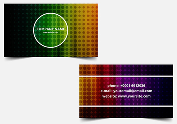 Free vector Colorful Business Card - Kostenloses vector #411741