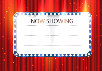 Holly Wood Lights Theater Template - vector gratuit #411761