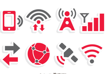 Internet Communication Icons Vector - vector #411771 gratis