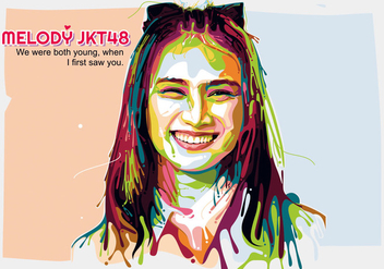 Melody JKT 48 - Popart Portrait - Free vector #411821