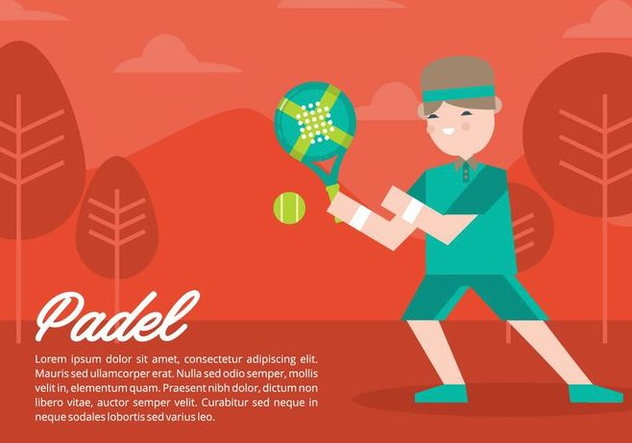 Padel Background - vector gratuit #412011