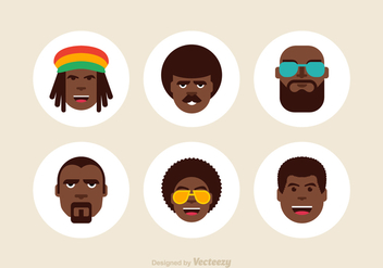 Free Afro Male Vector Icons - бесплатный vector #412031