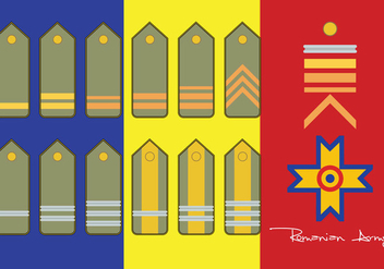 Romanian Army Rank - vector gratuit #412041