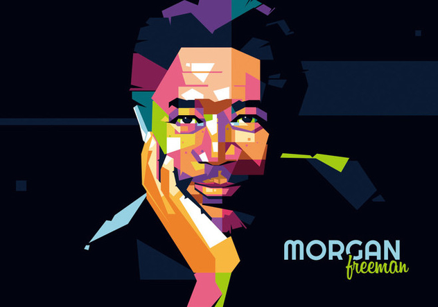Morgan Freeman - Hollywood Style - Wpap - Free vector #412111