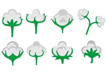 Free Cotton Flower Icons Vector - vector gratuit #412131