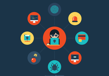 Free Data Theft Vector Icons - vector #412151 gratis