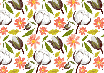 Free Cotton Pattern Vectors - Kostenloses vector #412161