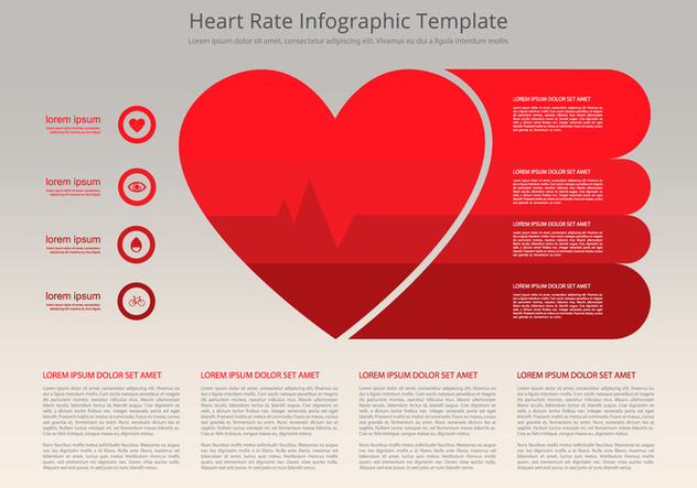 Heart Rate Infographic Flat Template - Kostenloses vector #412171