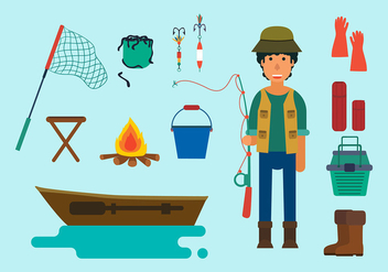 Fishing Free Vector - бесплатный vector #412301