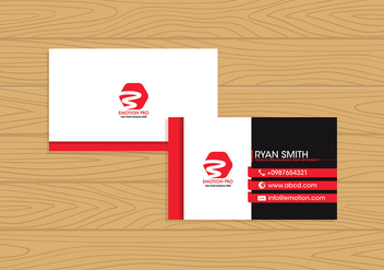 Name Card Template Free Vector - vector gratuit #412331