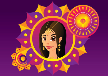 Indian Woman Free Vector - Kostenloses vector #412341