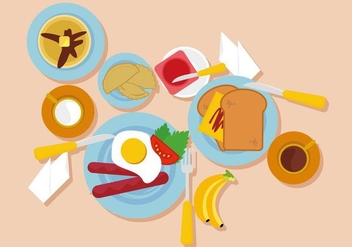 Free Breakfast Vector Illustration - vector gratuit #412361