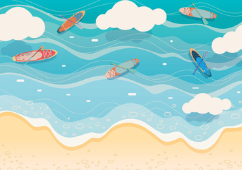 Paddle Background Vector - vector gratuit #412491