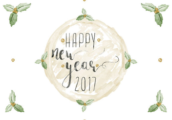 Free Happy New Year Watercolor Vector - Kostenloses vector #412511