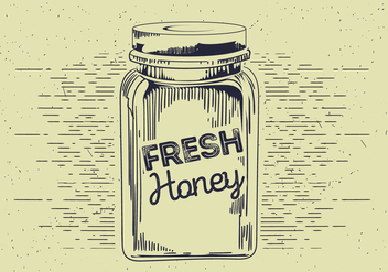 Free Honey Jar Vector Sketch - бесплатный vector #412551