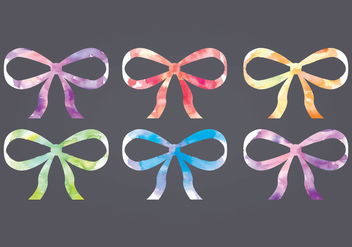 Vector Watercolor Bows - бесплатный vector #412581