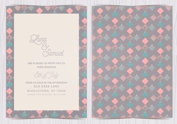 Vector Geometric Pattern Wedding Invite - Free vector #412591