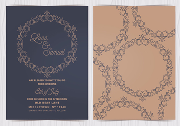 Vector Elegant Wedding Invite - бесплатный vector #412601