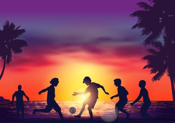 Beach Soccer Game - Free vector #412631