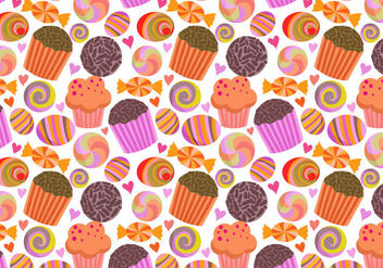 Free Sweets Pattern Vectors - бесплатный vector #412641