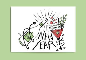 Free New Year Card - vector gratuit #412651