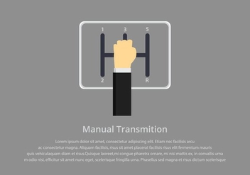 Gear Shift Manual Illustration Template - Free vector #412711