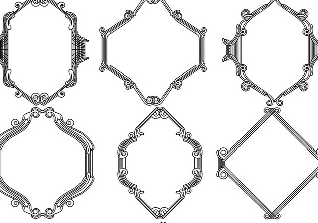 Set Of Vintage Ornamental Frames - vector gratuit #412741