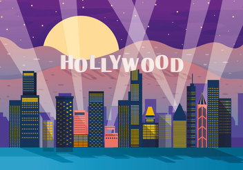 Hollywood Light Vector - vector #412851 gratis