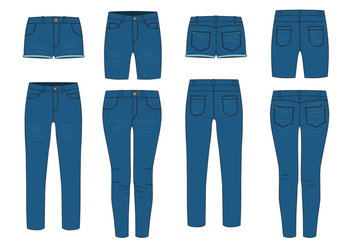 Free Blue Jeans Vector - Kostenloses vector #412991