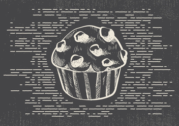 Free Hand Drawn Muffin Vector Background - Free vector #413181