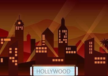Hollywood light dusk environment vector - бесплатный vector #413311