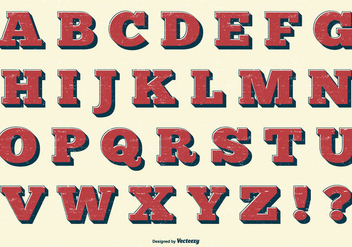 Vector Retro Alphabet Collection - vector #413351 gratis