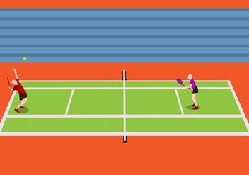 Illustration Of Tennis Tournament - Free vector #413411