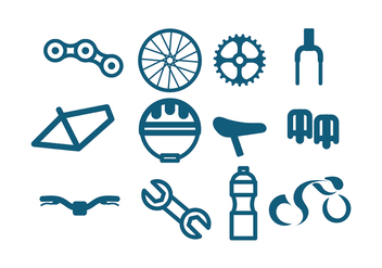 Bicicleta Icon Vector - бесплатный vector #413451