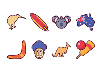Free Australia Icon Set - vector #413471 gratis