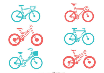 Bicycle Vector Set - Kostenloses vector #413491