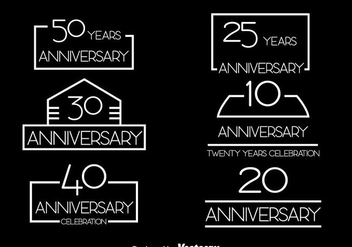 Simple Anniversary Collection Vector Set - бесплатный vector #413501