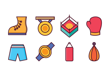 Free Boxing Icon Set - vector gratuit #413531