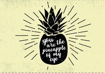 Free Hand Drawn PineappleFruit Background - vector #413551 gratis