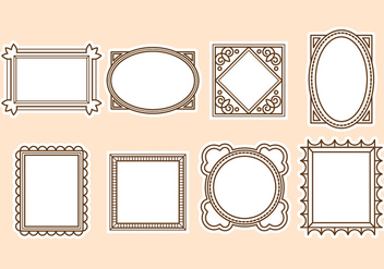Free Vintage Frame Vector - Free vector #413561