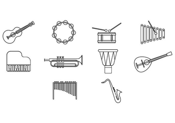 Free Music Instrument Icon Vector - Kostenloses vector #413581