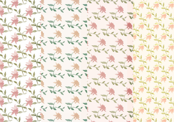 Vector Pastel Floral Patterns - vector gratuit #413651