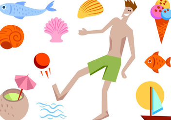 Free Beach Summer 2 Vectors - Free vector #413681
