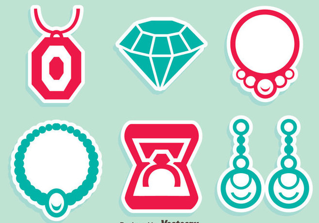Jewelry NIce Icons Vector - Free vector #413701