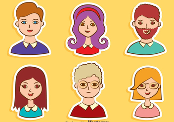 Nice People Avatar Collection Vector - Kostenloses vector #413721