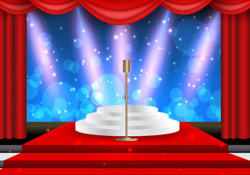 Holly Wood Lights Theater Template - vector gratuit #413801