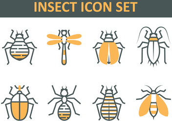 Insect Icon Set - vector gratuit #413811