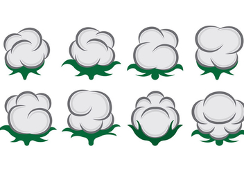 Vector Of Cotton Flowers - vector gratuit #413821