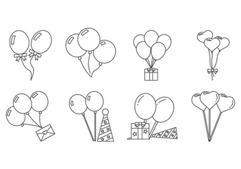 Free Balloon Icon Vector - vector #413841 gratis