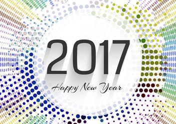 Free Vector New Year 2017 Background - бесплатный vector #413871